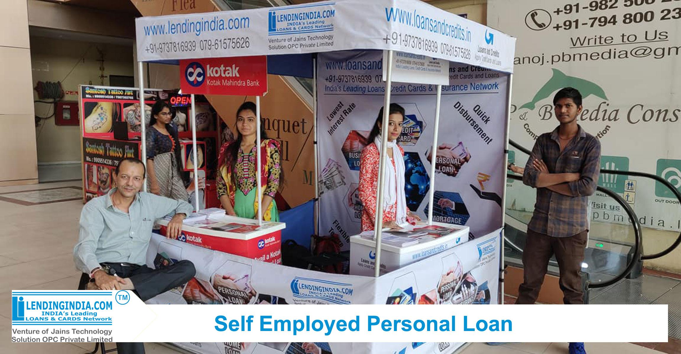 lending india self employed personal loan