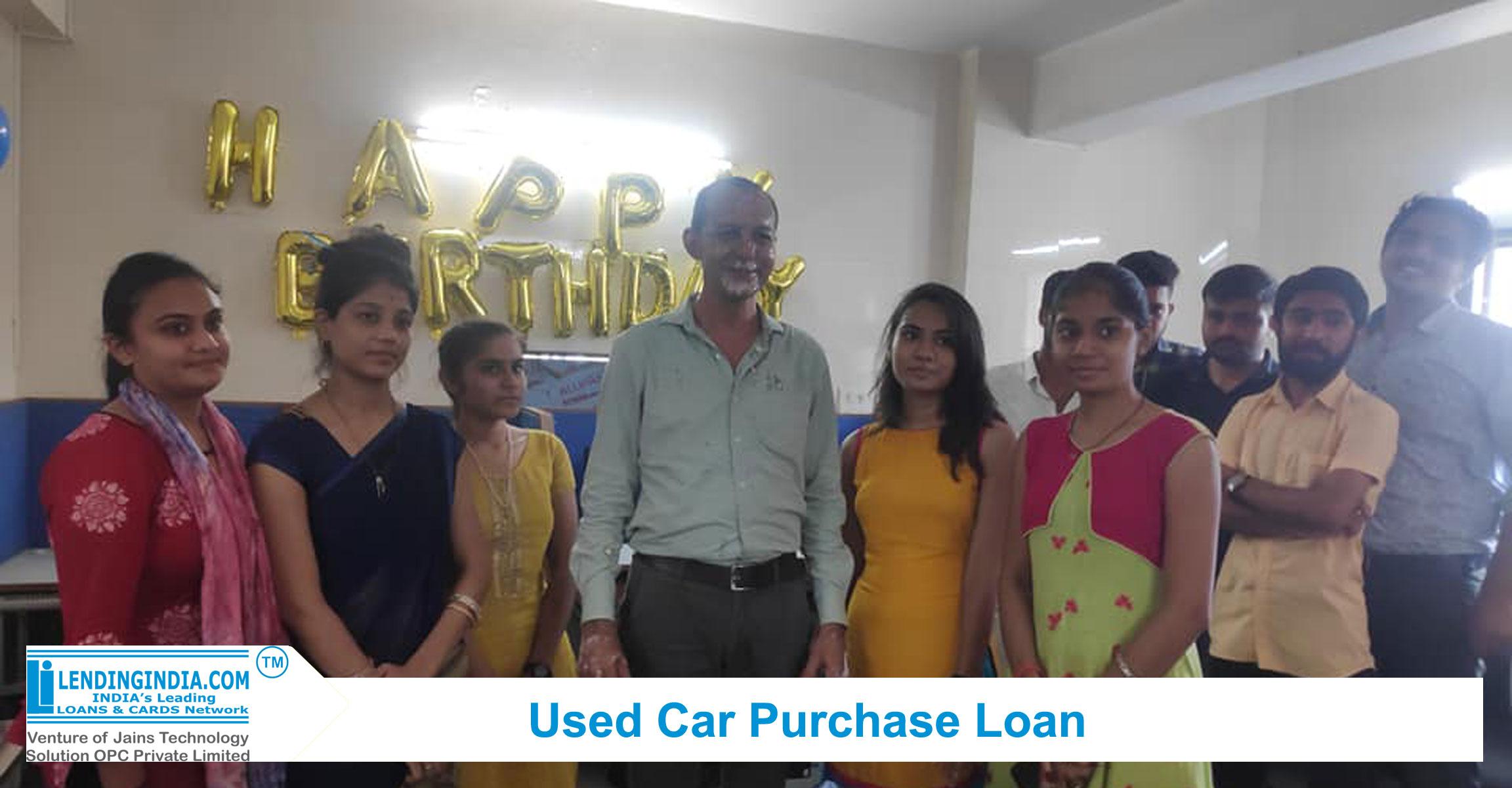 lending india used car purchase loan